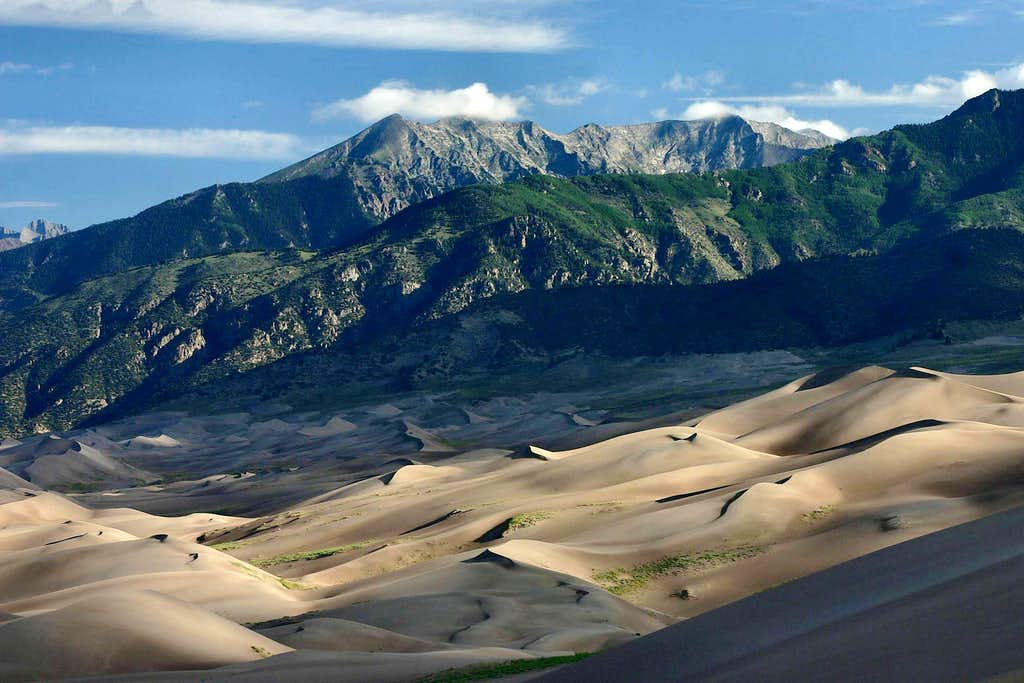 Dune Fields and Sangre de Cristo Mountains
