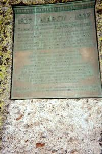 Marcy Summit Plaque May 2003