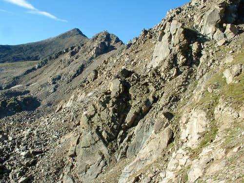 Ledges along the traverse