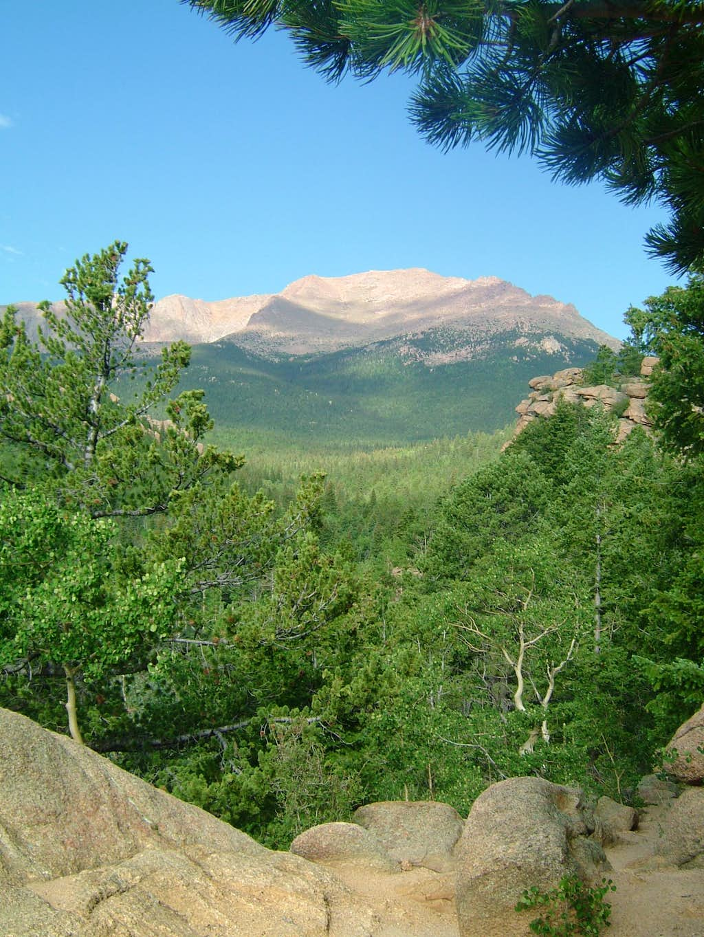 Summit View from Lower Barr Trail