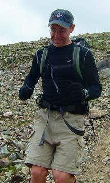 Me Running on Grays Peak
