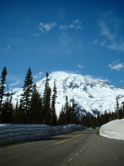 Mt Rainier on approach to...
