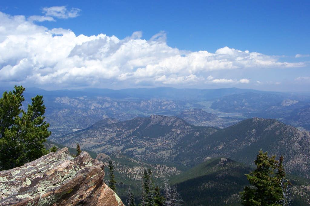 Lily Mountain and Estes Park from Estes Cone