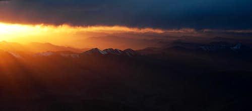 Sunset over Kunlun