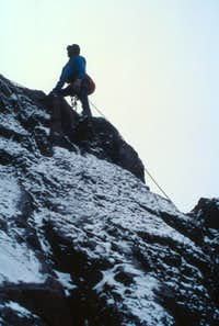 Climbing the SE Ridge of Axexandra