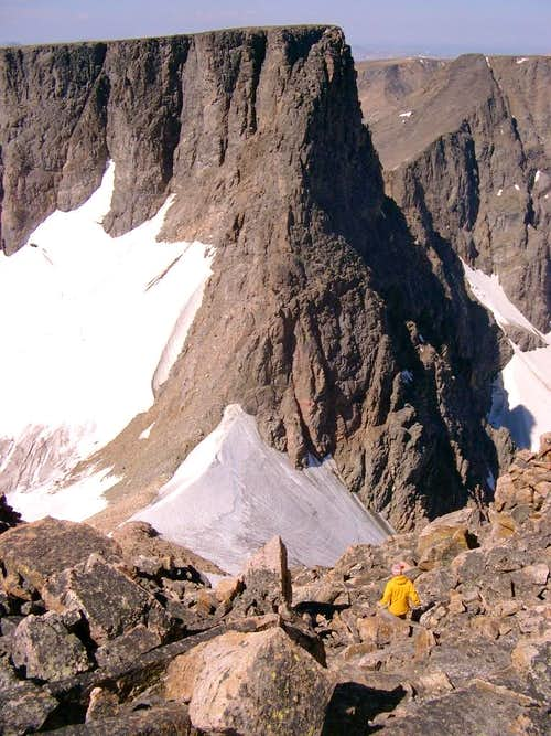 Descending the West Ridge