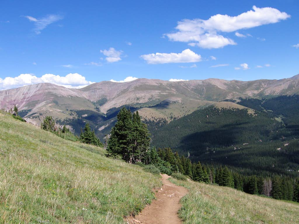 looking back from the trail