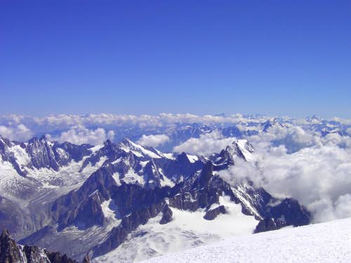 View from the top of Mont Blanc