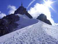 Auguille du Midi on the way to Refuge Cosmique