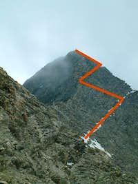 Rocciamelone Nornal route...