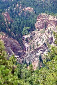 Seven Falls from Mt. Cutler Trail