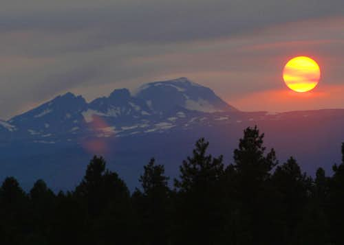 Tonight's Smoky Sunset over.....
