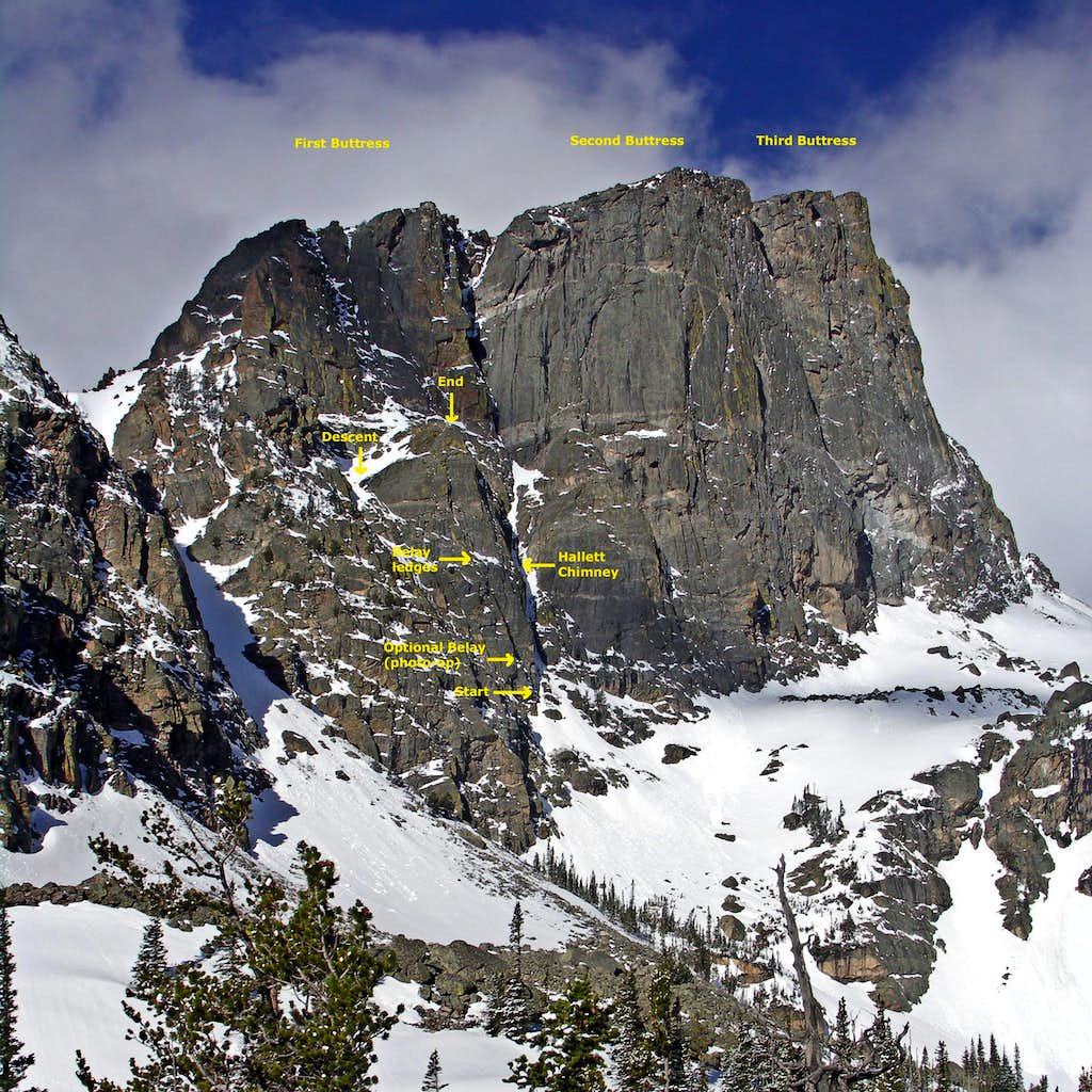 Great Dihedral of Hallett Peak