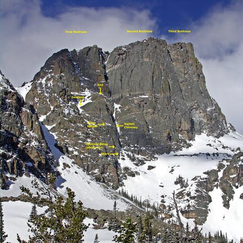 Great Dihedral of Hallett Peak
