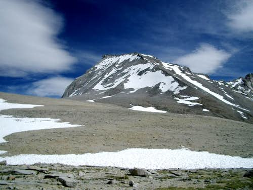 Mt. Tyndall from Shepherd\'s Pass