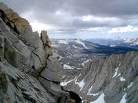 Mt. Tyndall - Looking into Williamson Bowl