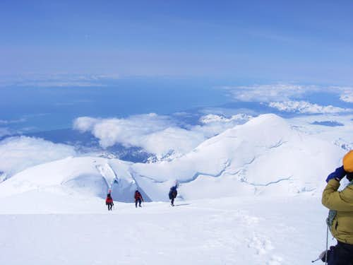 Ascending Mt Fairweather