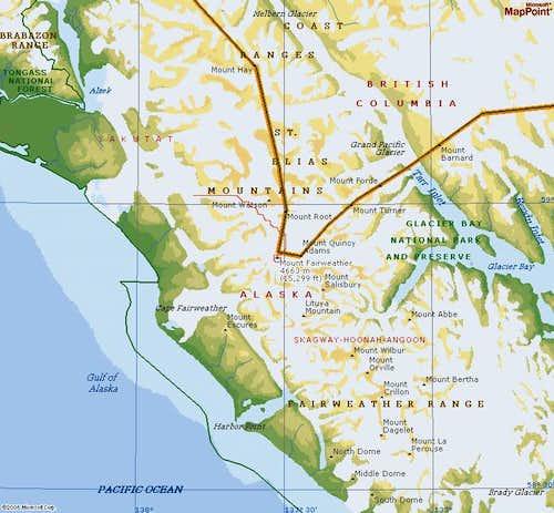 Fairweather Map