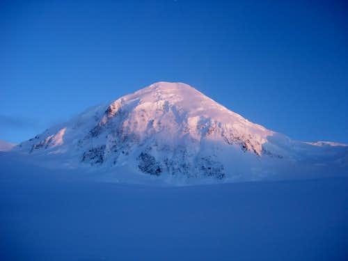 Mt Fairweather at Sunset