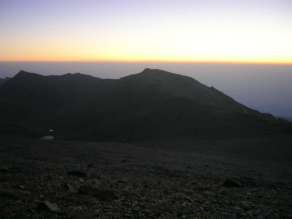 Pico del Cartujo at sunset
