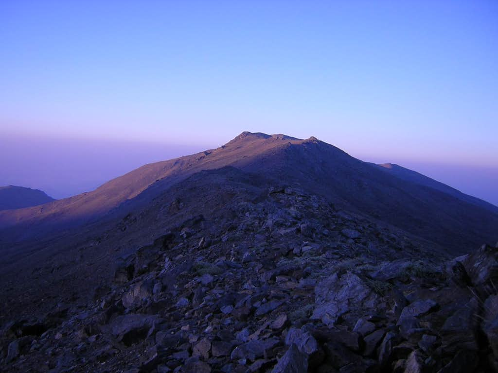 Pico del Tajo de los Machos at Dawn