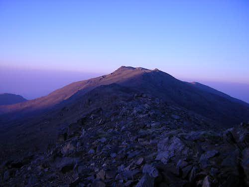 Pico del Tajo de los Machos at Dawn