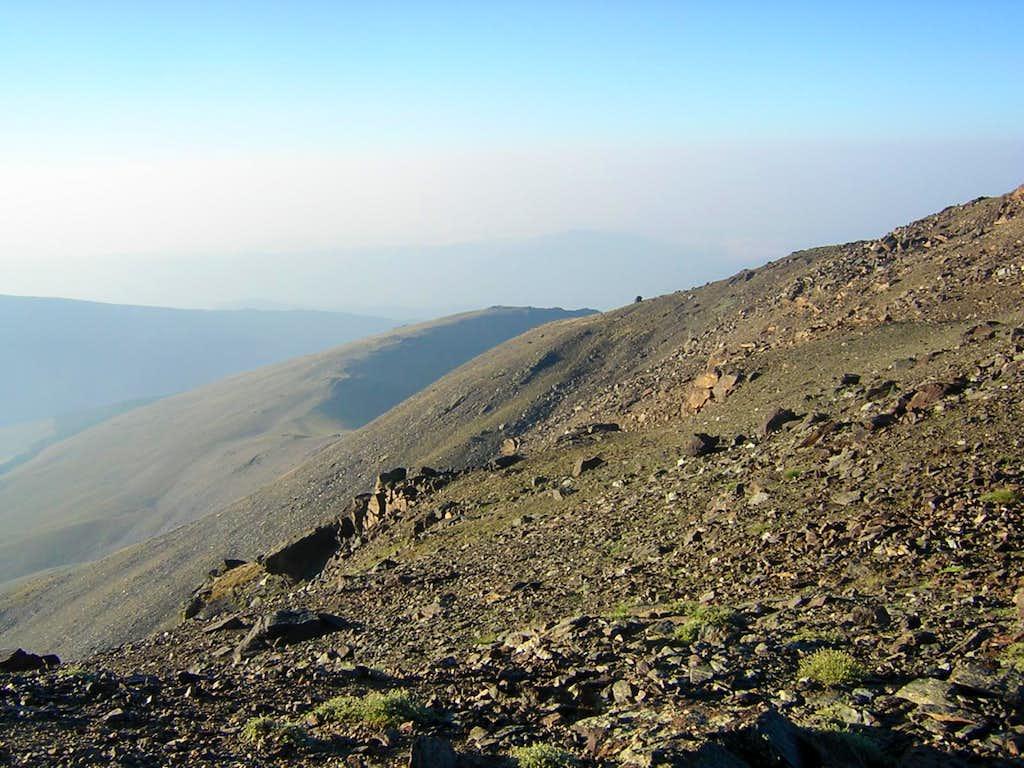 Ridge down to Pico de las Hogas