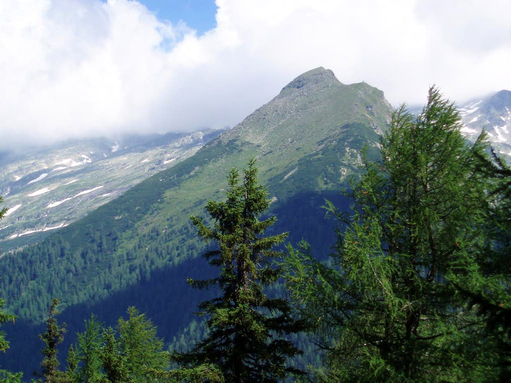 Liegelespitz from trail 139 to Lonzakopfl
