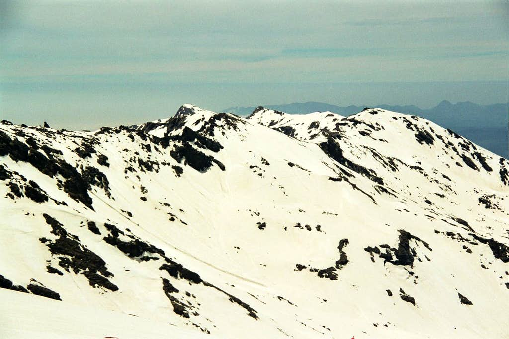 View from Veleta W face to the SW