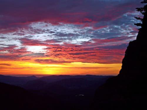The Sun Rises on Tyndall Gorge