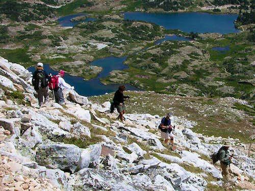 Descending Medicine Bow Peak