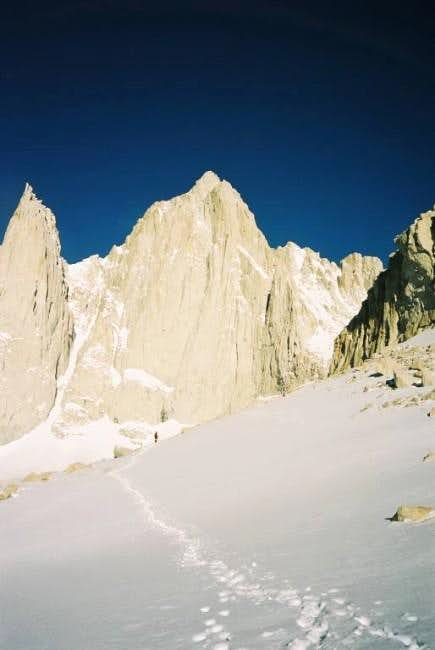 Whitney\'s Mountaineer Route in April