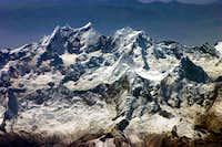 Cordillera Blanca, Arial View