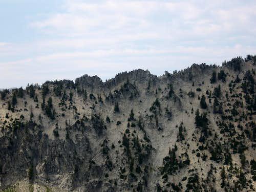 South ridge rocks