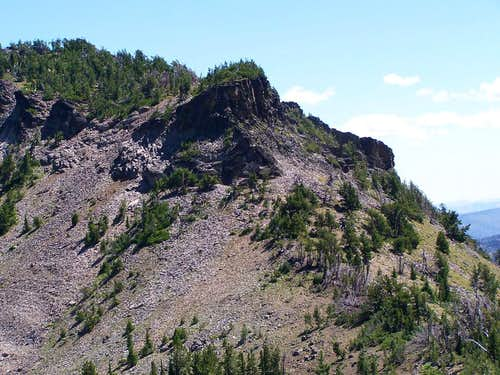 Close up of NW face