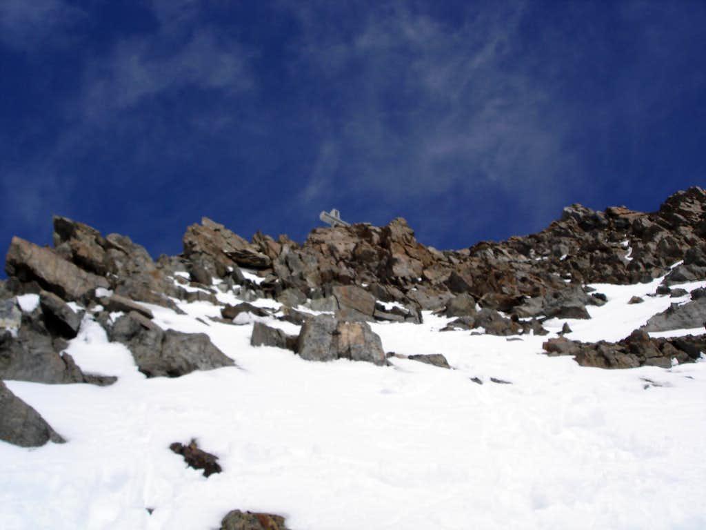 South-West ridge, last meters