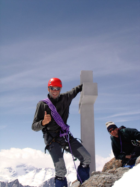 On the summit of Finsteraarhorn