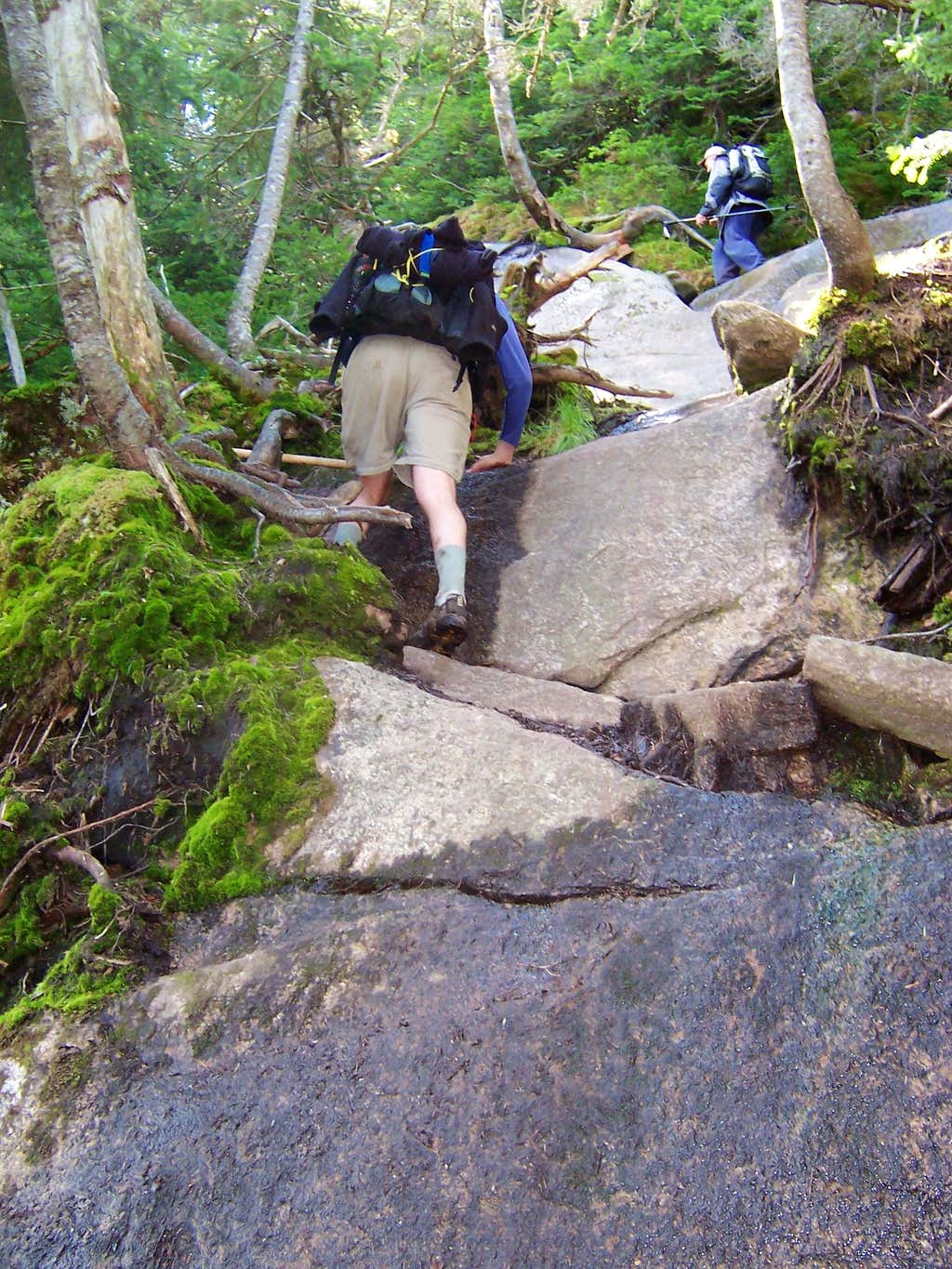 Typical Ascent on North Face of Armstrong