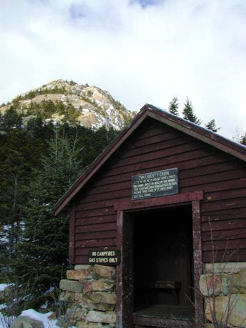 The Liberty Hut with the peak...