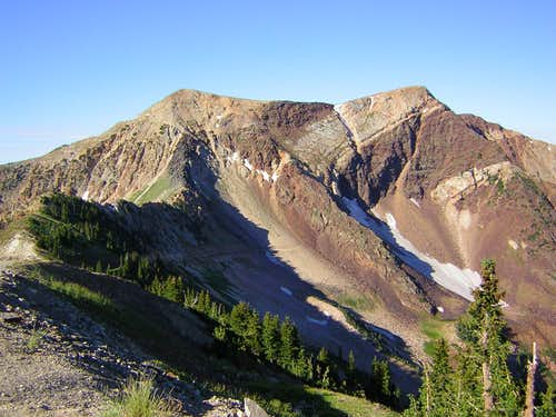 AF Twins above Hidden Peak