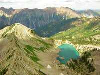 White Pine Lake & North ridge of White Baldy