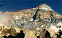 Mount Everest route