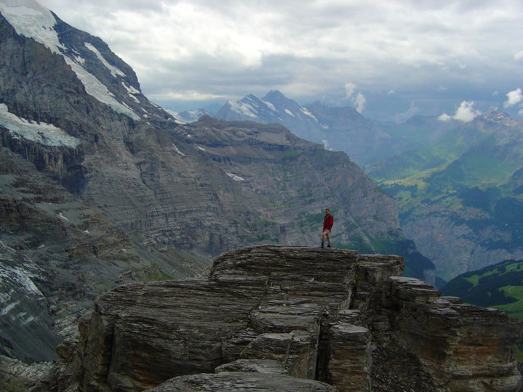 Top of Rotstock, Eiger west flank