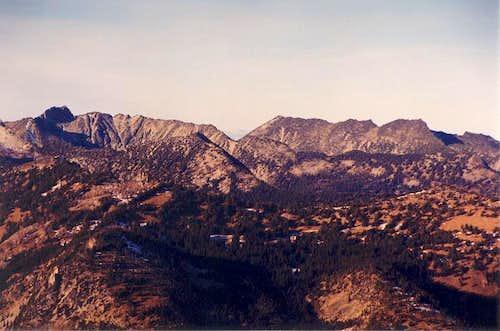 At far left is Mt. Bigelow...