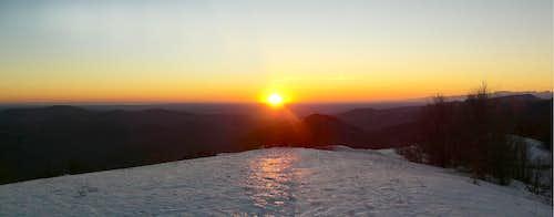 Sunset on Kolovrat