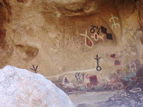 Pictographs at Joshua Tree