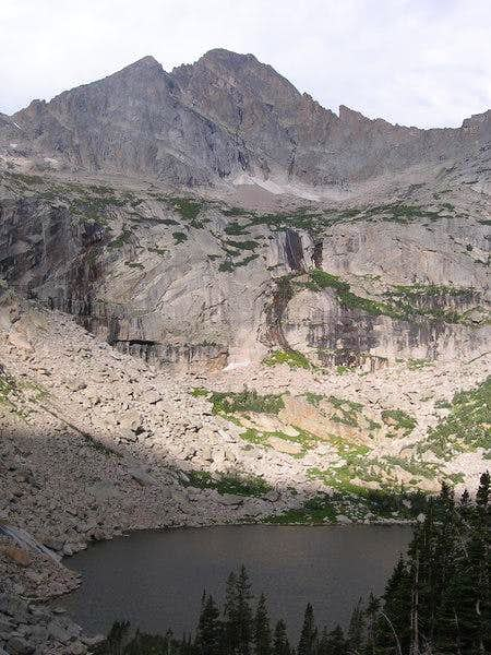 McHenry\'s Peak from above Black Lake