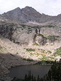McHenry's Peak from above Black Lake