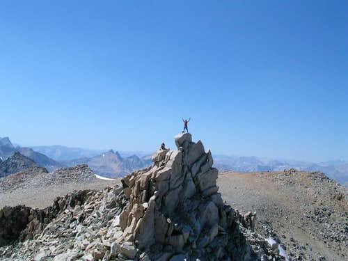 The summit of Mt Gould