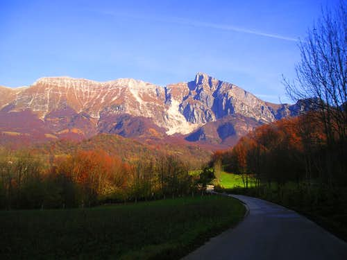 Krn massif in autumn